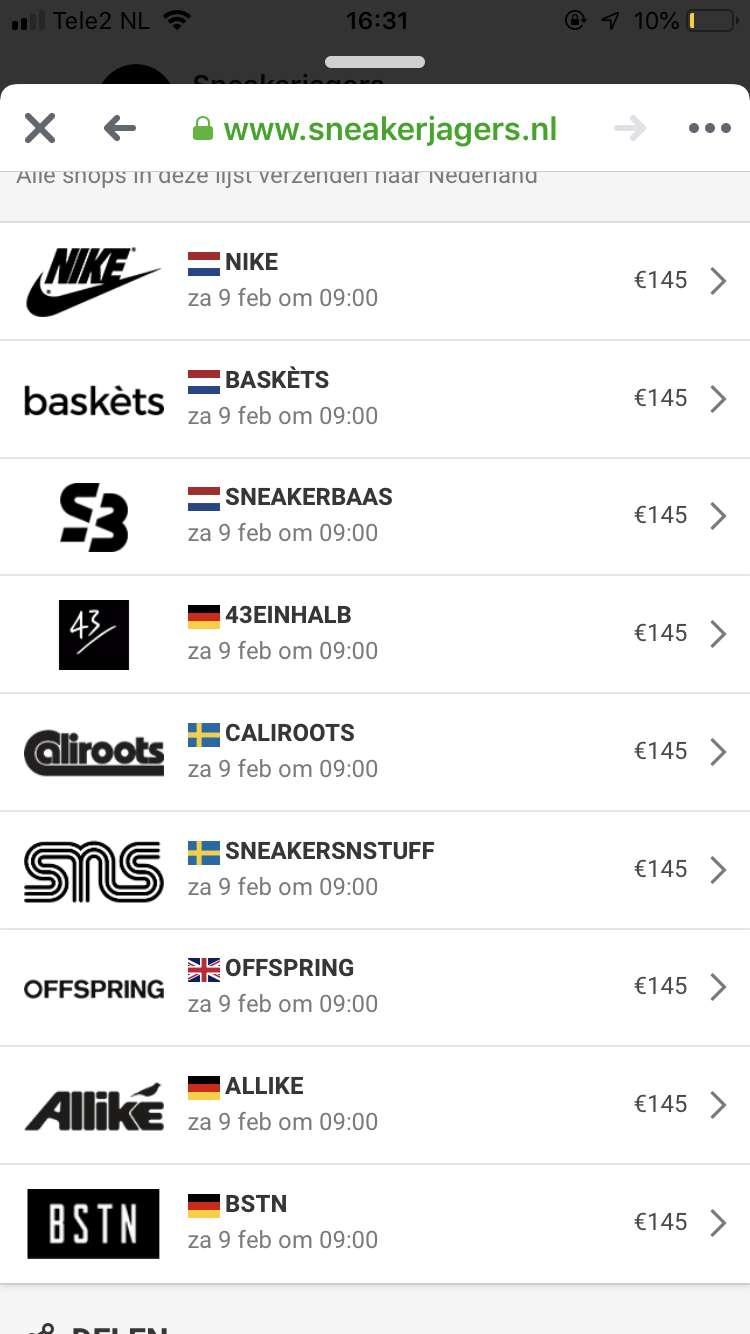 Sneaker size guide Baskèts Stores